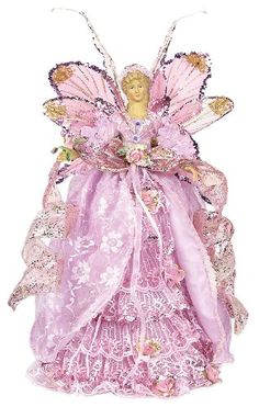 You have seen nothing like this pink Christmas angel tree topper before. This is one stunning angel topper and will definitely be the most loved piece in your Christmas decor. Christmas Tree Tops, Angel Christmas Tree Topper, Christmas Fairy, Victorian Christmas, Pink Christmas, Christmas Pictures, Christmas Angels, Christmas Holidays, Christmas Stuff