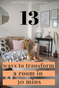Easy DIY projects to transform your home in half an hour - from adding pops of colour to a gallery wall, and styling your decor. Home interior projects you can do quickly and easily in your own home #neutralinteriordesign #diyprojects #diyhome #diy Cosy Lounge, Lounge Decor, Ikea Units, Dark Living Rooms, Vintage Interiors, Scandi Style, Easy Diy Projects, Soft Furnishings, Good Night Sleep