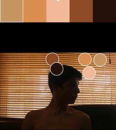 Marón muy suave y color carne(6):D98F4E/F2B999 Paleta y puntos de color.