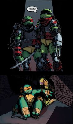 Family Bonding by WinterHeath << Never EVEREVEREVEREVEREVER EVER have this happen. (But if it did, it'd be so cool to have Mikey and Donnie beat them. That would show they are strong.)<<<and here we see city fall everyone. Teenage Ninja Turtles, Ninja Turtles Art, Tmnt Leo, Tmnt Mikey, Big Heroes, Tmnt Swag, Ninja Turtle Pumpkin, Leonardo Tmnt, Tmnt 2012