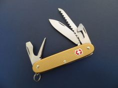 Victorinox Rare Swiss Bianco Farmer Coyote Brown Alox Swiss Army Knife #Victorinox