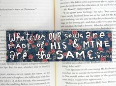 Painted Bookmark // Floral // Whatever Our Souls by PeelsandPosies, $6.00