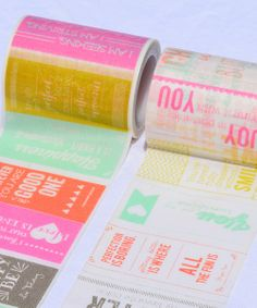 Text Pop Washi Tape Set