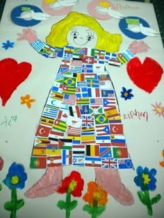 Art For Kids, Crafts For Kids, Arts And Crafts, Peace Crafts, 28th October, Language School, National Holidays, Peace On Earth, Classroom Decor