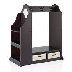 Guidecraft Dress Up Vanity - Espresso - A great choice for the bedroom or playroom, the Guidecraft Dress Up Vanity - Espresso is a stylish place for your little princess to keep her pretend-play...