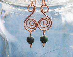 Copper spiral earrings :https://urcrafti.com/product/copper-spiral-earrings/