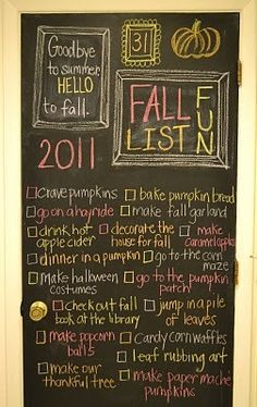 Only June and I'm already ready for fall! Autumn checklist
