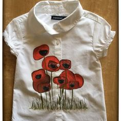 Camasuta Pictata 'Poppies Field' handmade with love by Crisia Poppies, Polo Shirt, Polo Ralph Lauren, Mens Tops, Handmade, Shirts, Fashion, Moda, Polos