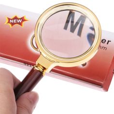 [$1.61] 60mm Handheld Magnifier with Wooden Handle