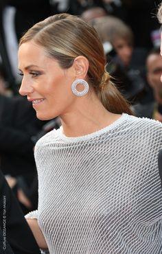 Cécile de France #dessange #cannes2015 #coiffeurofficiel Cannes Film Festival 2015, Cannes 2015, Diamond Earrings, Star Francaise, Palais Des Festivals, French Beauty, French Actress, Hairdresser, Haircuts
