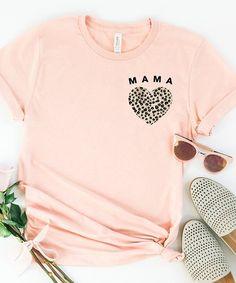 Simply Sage Market Blush Leopard Mama Heart Mini Crewneck Tee - Women | Zulily