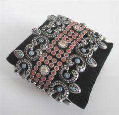 New LK Designs Leetal Kalmanson Indian Princess Stretch Bracelet Coral Turquoise | eBay