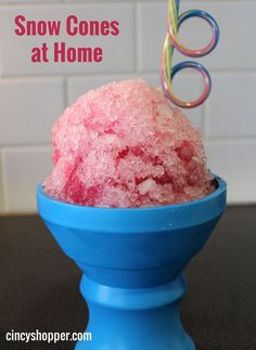 Looking to get a jump on the heat with cool Summer treats? How about Snow Cones? Here is a simple way to give the kids a treat without spending a small fortune out at the Snow Cone Stand. Last summer we bought a shaved ice stand for our kids to work during the summer (we had to sell it over the winter as the lease was not renewed) now our kids are addicted to shaved ice. Making Snow Cones at home is quite easy and  can be much healthier as well.