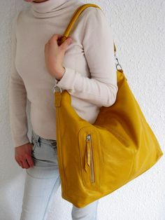Leather handbagAdeleshop handmade clip on hobo laptop by Adeleshop, $185.00