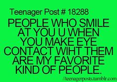 I do that and I think people r rude when they don't smile back