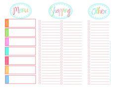 Free Printable Menu Templates | Printable Menu Planner | Recipes ...