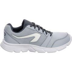 517ea721c Zapatillas Jogging Running Kalenji Run One Mujer Gris Niebla Blanco