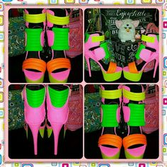 GOGO EXOTIC DANCER COSPLAY neon PLATFORM SHOES 8.5 SEXXXY & GO~GO~LICIOUS BABY are these AWESOME LOOKIN EXOTIC DANCER/PERFORMER/MODELING shoes. . these are a SIZE 8.5 & are in ABSOLUTE AWESOME CONDITION with VERY VERY MINIMAL sign of any wear whatsoever...these are the PRIVILEGED brand and orig cost $115.00 online privileged Shoes