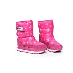 Piggy2gether Kids Girls Snow Boots Cute Pink Waterproof Winter Boots4 ** Click on the image for additional details.