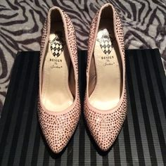 Gorgeous Diamond Stud Shoes Design by Jacobies. Size 10. Good condition Shoes Heels