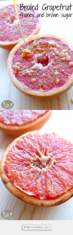 Grapefruit drizzled with honey and sprinkled with cinnamon and brown sugar--then broiled to perfection! | therusticwillow.com