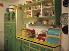Whitney's revamped kitchen by the vintage cottage, via Flickr