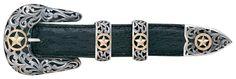 """Vogt Silversmiths 1"""" Chet Vogt Filigree Ranger Belt Buckle - VT073-435-5"""