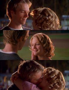 "Sam Coulson (Michael Vartan) and Josie Geller (Drew Barrymore) ""Never Been Kissed "" (1999) #film #movie #screen_capture #love #romance #kiss #Josie_Geller #Sam_Coulson #drew_barrymore #Michael_Vartan"