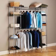 Superior Expandable Closet Organizer: Organize Your Entire Wardrobe W/this Fully  Customizable Closet Organizer.