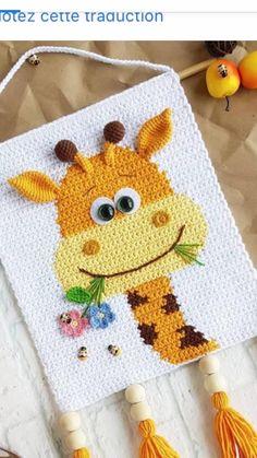 Crochet Wall Art, Crochet Wall Hangings, Tapestry Crochet, Crochet Home, Crochet For Kids, Crochet Crafts, Crochet Projects, Basic Crochet Stitches, Crochet Basics