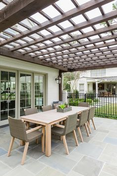 The wooden pergola is a good solution to add beauty to your garden. If you are not ready to spend thousands of dollars for building a cozy pergola then you may House, Cottage Style, Deck With Pergola, Pergola Lighting, Pergola Patio Ideas Diy, Pergola Designs, Ceiling Design, Garage Pergola