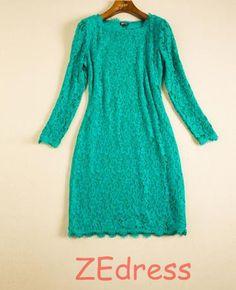 Lace body dress