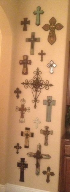 Vintage look with exquisite details on a cast iron cross for cast ...