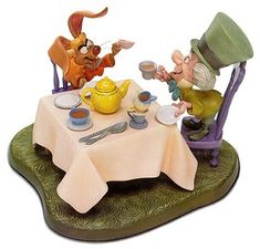 *MARCH HARE & THE MAD HATTER ~ WDCC Disney Classics_Alice In Wonderland Mad Hatter And March Hare A Very Merry Unbirthday