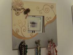 Espejo Malma decorado colgar collares
