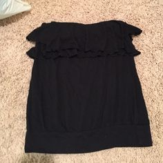 Express black sleeveless tank Express sleeveless tank with ruffles size x small Express Tops Tank Tops