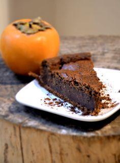 Torta con cachi e cioccolato CHOCOLATE AND PERSIMMON CAKE