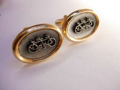 Bicycle 4 Two Vintage Cufflinks Pewter by NeatstuffAntiques, $90.00