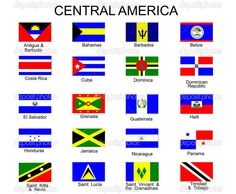 List of all flags of Central America countries. Description from dreamstime.com. I searched for this on bing.com/images