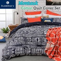 Montauk Cotton Quilt Cover Set by Bambury