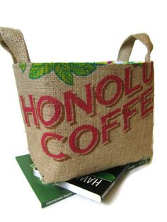 f4d3c13deaa MTO. Special Occasion & Holiday Gift Basket. Storage. Coffee Lover.  Repurposed Coffee Bag - Large. Handmade in Hawaii