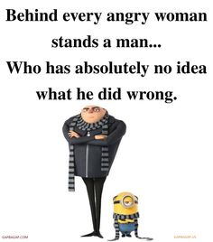 Funny Minion Quote About Angry Women