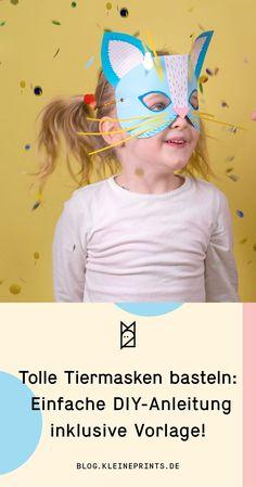 DIY Masken basteln - mit dieser einfachen Anleitung gelingen Euch im Handumdrehen die schönsten Masken für Eure Kinder. #diy #maskenbasteln #masken #maskenbastelnkinder #tiermasken #basteln #fasching #karneval