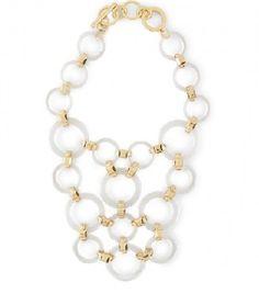 C. Wonder Lucite Circles Bib Necklace