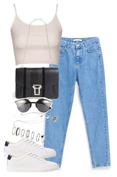 """Untitled #2316"" by theeuropeancloset on Polyvore featuring Topshop, MANGO, Proenza Schouler, Forever 21 and Christian Dior"