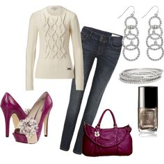 This is how I would add color to an outfit. Wear the neutrals and add the color in accessories.