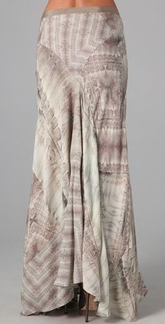Hippie Whipstitch Long Skirt