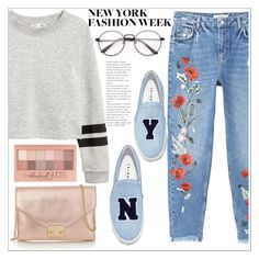 """NYFW!!"" by juhibieber1 ❤ liked on Polyvore featuring MANGO, Joshua's, Loeffler Randall, Maybelline and NYFW"