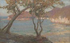 ALBERT HANSON (1866-1914) View Through The Trees oil on board