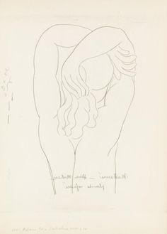 View Femme au dos By Henri Matisse; Access more artwork lots and estimated & realized auction prices on MutualArt. Matisse Drawing, Picasso Drawing, Matisse Art, Pablo Picasso, Painting & Drawing, Figure Drawing, Line Drawing, Drawing Sketches, Art Drawings